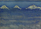 Ferdinand Hodler : Eiger Monch and Jungfrau Rising above a Sea of Mist 1908 : $279