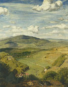 Hans Thoma : Taunus Landscape 1890 : $279