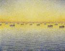 Paul Signac : Setting Sun Sardine Fishing Opus 221 1891 : $279