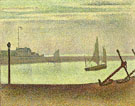 Georges Seurat : The Channel at Gravelines Evening 1890 : $279