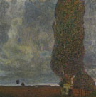 Gustav Klimt : The Large Poplar Gathering Strom 1903 : $275