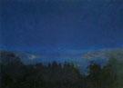 Harald Oskar Sohlberg : Midsummer Night Nordic Motif c1907 : $279