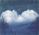 Harald Oskar Sohlberg : Winter Night in the Mountains 1911 : $279