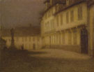 Henri Eugene Le Sidaner : A Beauvais Square by Moonlight c1900 : $275