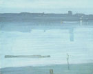 James Abbott McNeill Whistler : Nocturne Blue and Silver Chelsea 1871 : $279