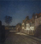Jean Charles Cazin : A Village Street Evening c1890 : $279