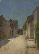 Odilon Redon : A Street in Samois 1888 : $279