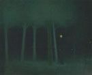 Jozsef Rippl Ronai : A Park at Night c1892 : $275