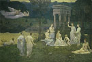 Pierre Puvis de Chavannes : The Sacred Grove 1884 : $275
