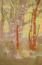 Odilon Redon : Red Trees Arbres Rouges : $275