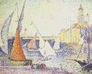 Paul Signac : The Quay at St Tropez 1899 : $275
