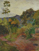 Paul Gauguin : Martinique Landscape 1887 : $275