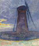 Piet Mondrian : Mill at Domburg 1908 : $275