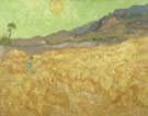 Vincent Van Gogh : Wheatfield with Reaper 1889 : $279