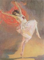 Sir John Lavery : Anna Pavlova as a Bacchante : $279