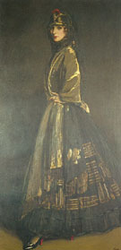 Sir John Lavery : Hazel in Black and Gold : $275