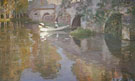 Sir John Lavery : The Bridge at Grez : $275