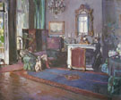 Sir John Lavery : The Greyhound Sir Reginald Listers Drawing Room at Tangier : $279