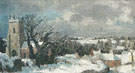 Peggy Somerville : Newbourne Church in Winter c1947 : $275