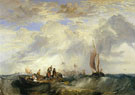 Joseph Mallord William Turner : Orange Merchant at Sea : $279
