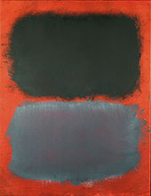 Mark Rothko : Gray Gray on Red 1968 : $285