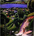 August Macke : Tegernsee Landscape (1910) : $259