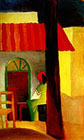 August Macke : Turkish Cafe I (1914) : $235