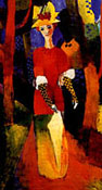 August Macke : Woman in Park 1914 : $255